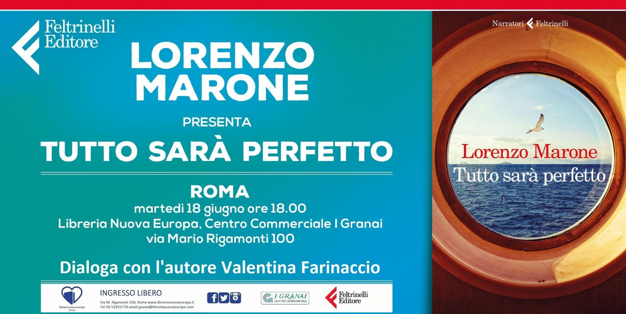 Lorenzo Marone presenta